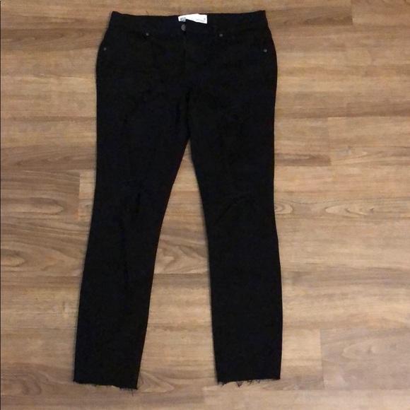 PacSun Denim - pacsun jeans size 9. black with rips. low rise.